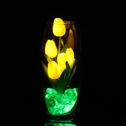 """Светильник """"5 тюльпанов в вазе"""" желтый"""